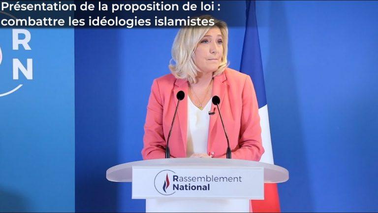 Marine Le Pen présente son contre-projet pour neutraliser l'islamisme