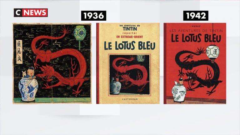 BD : la mythique couverture de «Tintin et le lotus bleu» mise en vente