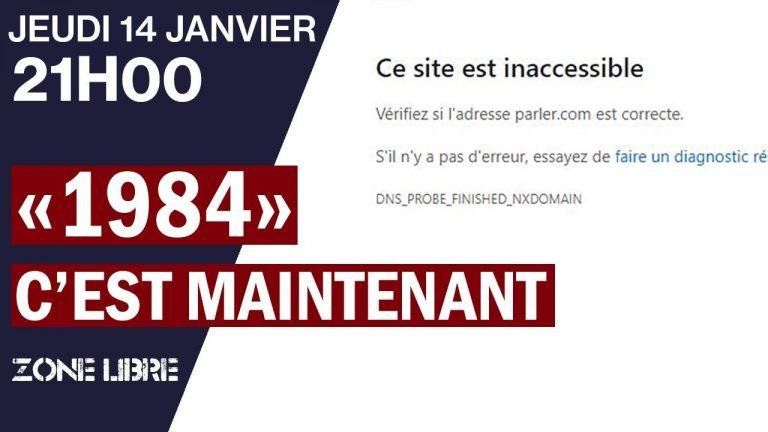 Zone libre. «1984», C'est Maintenant. Un journaliste de Breizh-info participe à un débat sur la censure et la répression.