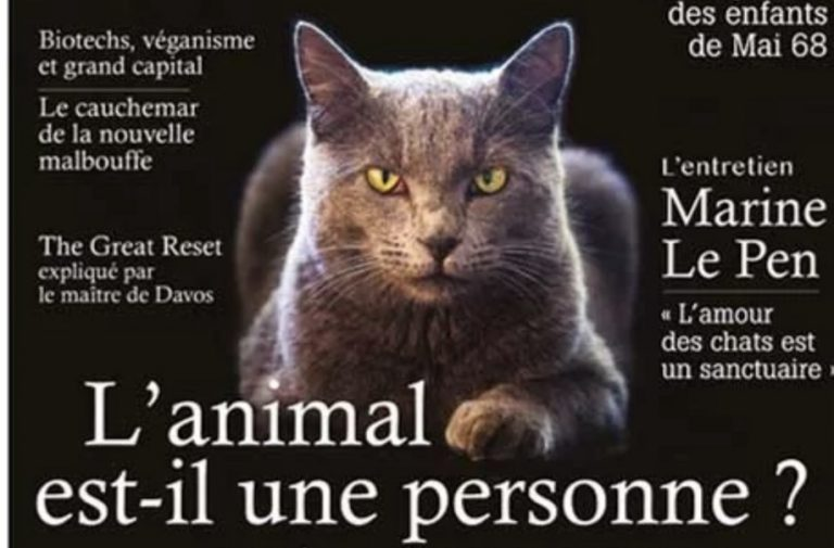 L'animal est-il une personne ? Le 188ème numéro de la revue Eléments est sorti