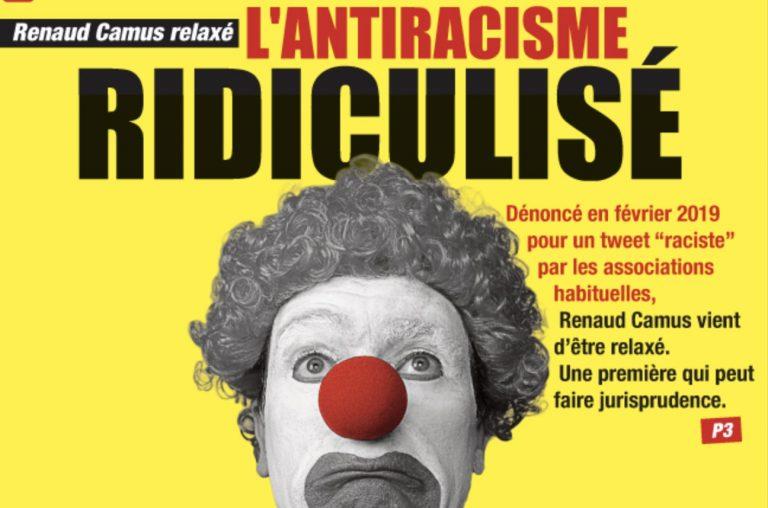 Renaud Camus relaxé. L'antiracisme ridiculisé