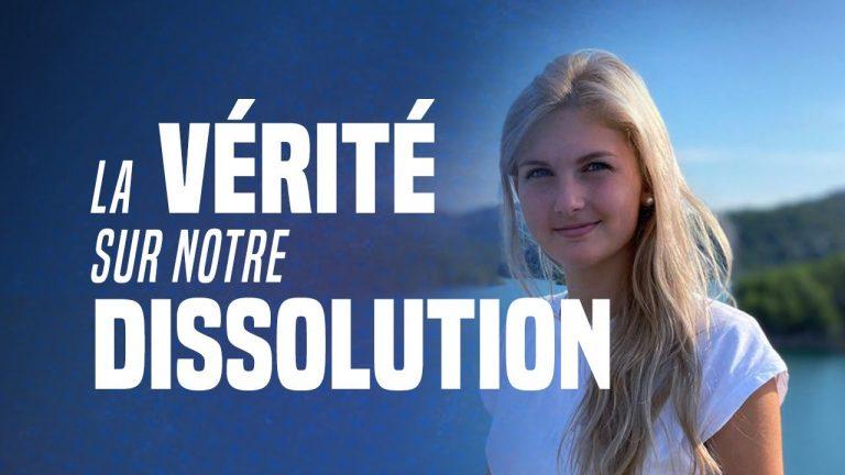 Thaïs d'Escufont (Génération Identitaire) : « Toute la VÉRITÉ sur notre dissolution »