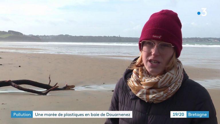 Plonevez Porzay : marée de micro-plastiques suite à la tempête Justine