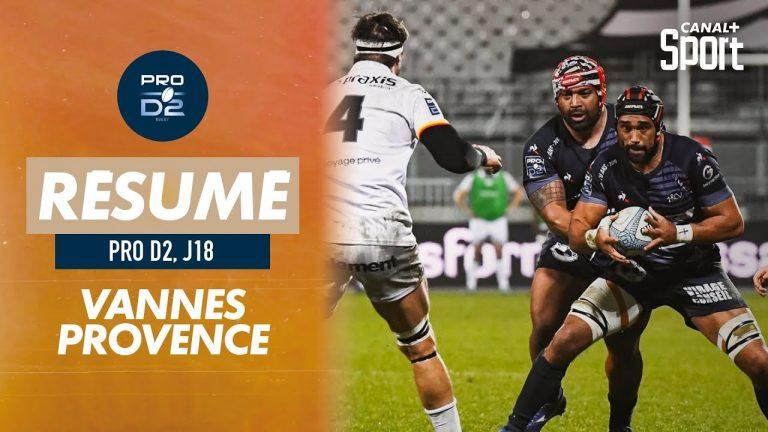 Le RC Vannes bat Provence rugby et reprend la tête de la Pro D2 (30-7)