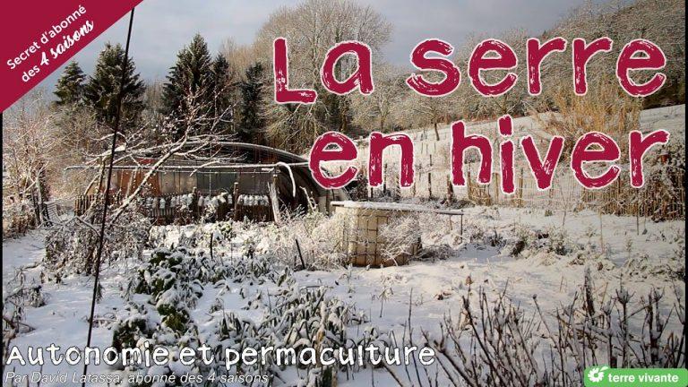 La serre en hiver – Autonomie et permaculture