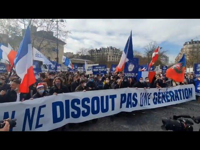 Retour en vidéo sur la manifestation contre la dissolution de Génération Identitaire