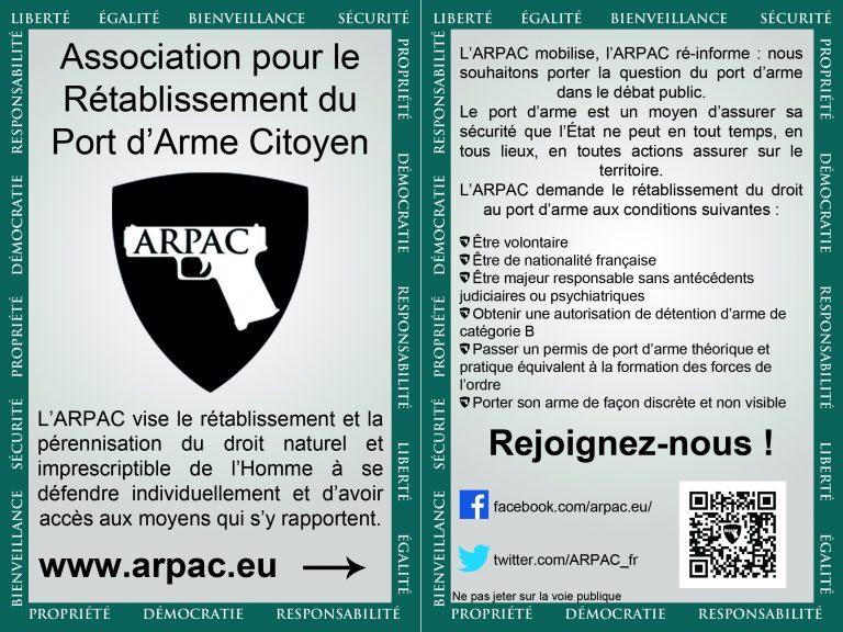 Pour l'ARPAC, il n y a « aucune raison d'exclure le port d'arme de la culture française »