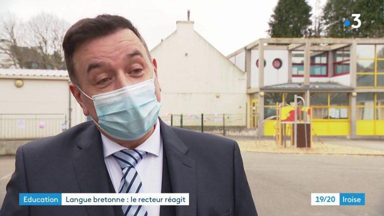 Réaction du recteur d'académie de Bretagne aux manifestations des défenseurs du breton