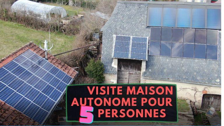 Visite d'une Maison autonome et résiliente de 5 personnes sur 3000m²