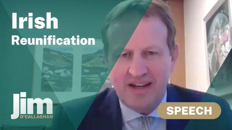 Jim O'Callaghan (député de Dublin) : « Le vote sur la réunification de l'Irlande ne devra pas être aussi chaotique que celui sur le Brexit »