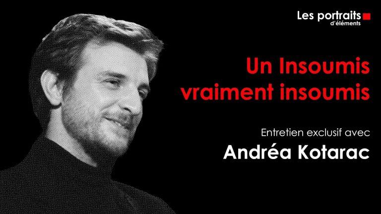 Éléments invite Andréa Kotarac pour sa nouvelle émission