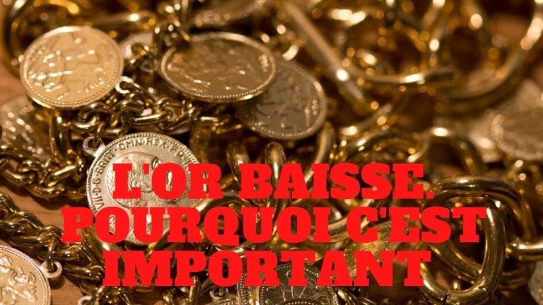 L'or baisse. Pourquoi c'est important? Opportunité d'achat ou retournement durable?