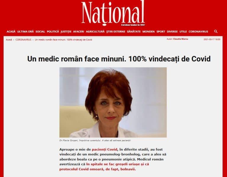 Flavia Groșan, pneumologue roumaine : « C'est le protocole Covid appliqué dans les hôpitaux qui tue les malades ! »