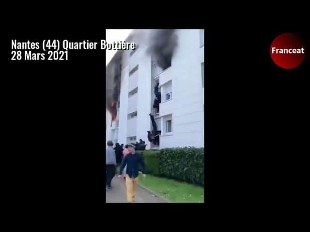 Nantes (44). Ils sauvent un bébé et sa mère dans un feu d'appartement