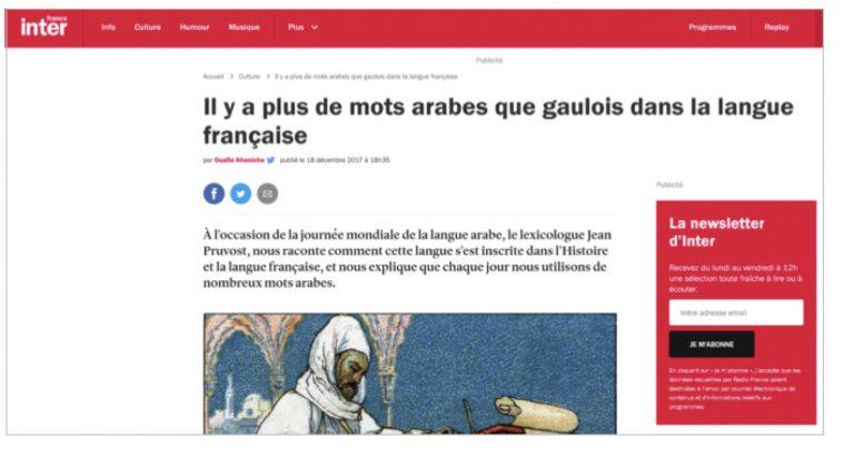 Débunkage. Plus de mots arabes que de gaulois dans la langue française, vraiment?