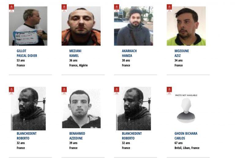 La liste des 27 Français recherchés par Interpol