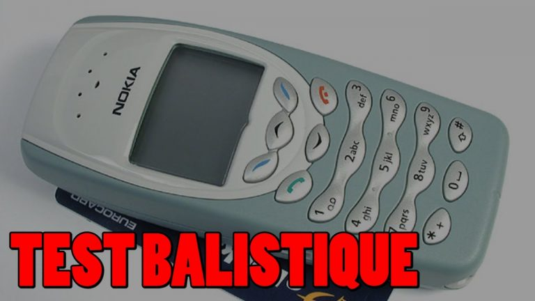 Insolite. Il teste la résistance balistique d'un Nokia 3310