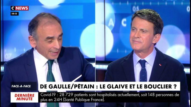 Eric Zemmour face à Manuel Valls : « J'assume très bien être identitaire si c'est pour défendre l'identité française ! »