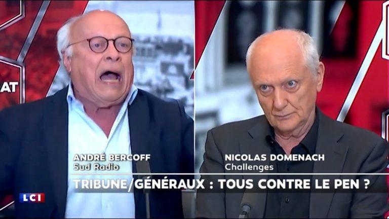 Tribune des généraux. Débat tendu entre André Bercoff et Nicolas Domenach