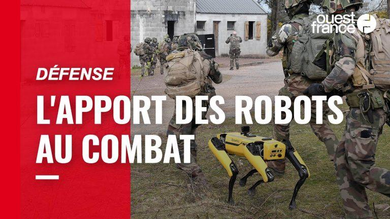 Armée. Quand robots et élèves officiers s'entraînent ensemble sur le camp militaire de Coëtquidan
