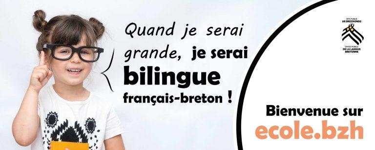 Langue bretonne. Une campagne de promotion des écoles Diwan et bilingues