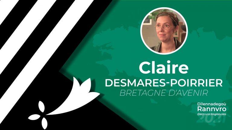 Régionales 2021. Claire Desmares-Poirrier interrogée par Brezhoweb sur les thématiques bretonnes (Langue, culture, identité)