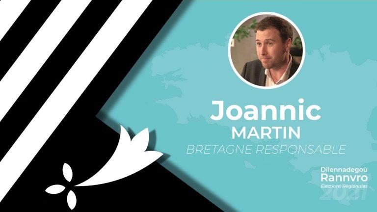 Régionales 2021. Joannic Martin interrogé par Brezhoweb sur les thématiques bretonnes (Langue, culture, identité)