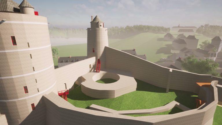 Une visite virtuelle du château de Fougères en 3D