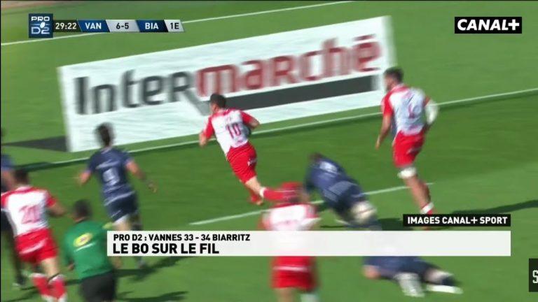 Rugby. Le rêve brisé du RC Vannes, crucifié par Biarritz après la sirène