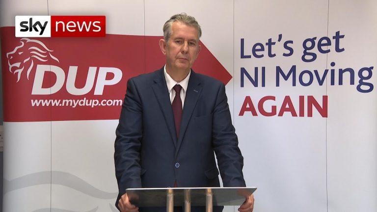 Edwin Poots (DUP) : « Je ne me reposerai pas tant que le protocole en Irlande du Nord ne sera pas supprimé »