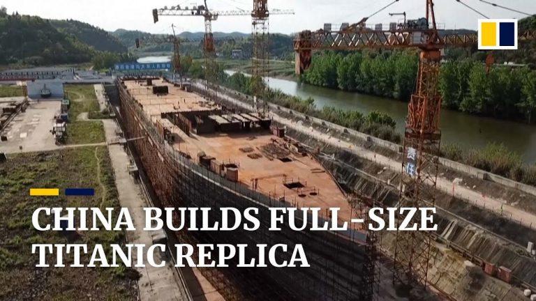 Chine. Une réplique grandeur nature du Titanic en cours de construction pour un parc à thème