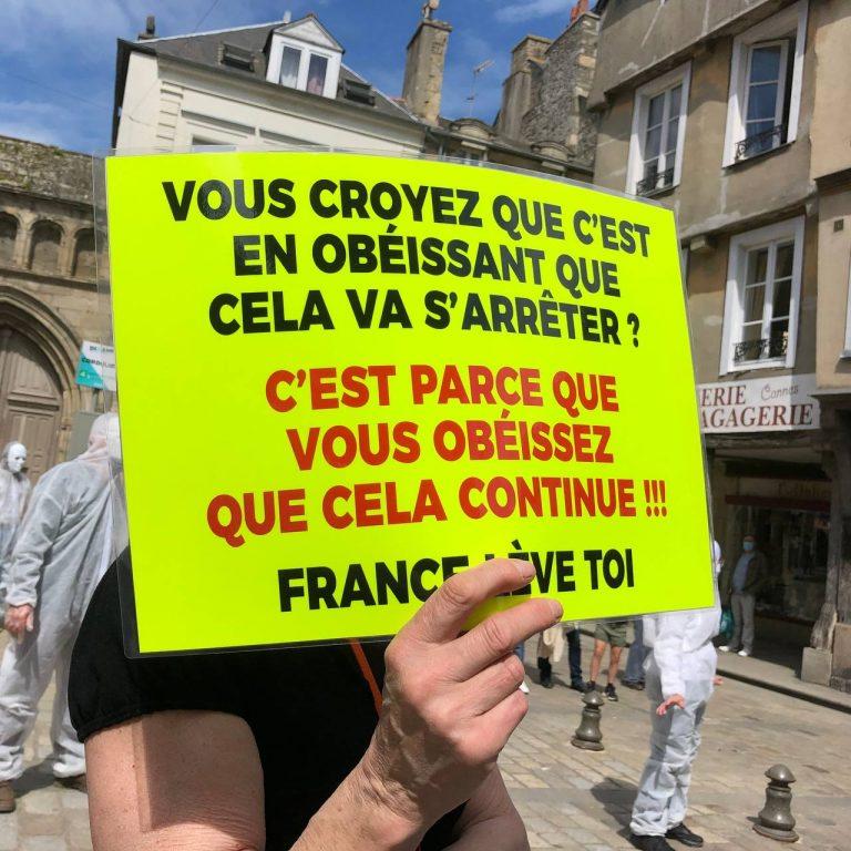 Tyrannie sanitaire. Une manifestation samedi 8 mai à Auray (56)