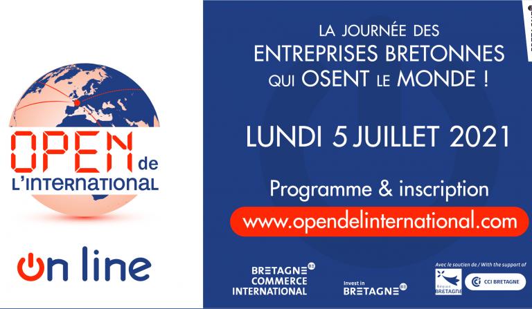 Open de l'international 2021. Une édition en ligne pour les entrepreneurs bretons le 5 juillet