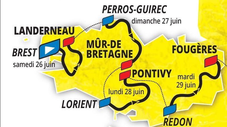 Tour de France 2021. Le parcours détaillé des 4 étapes bretonnes