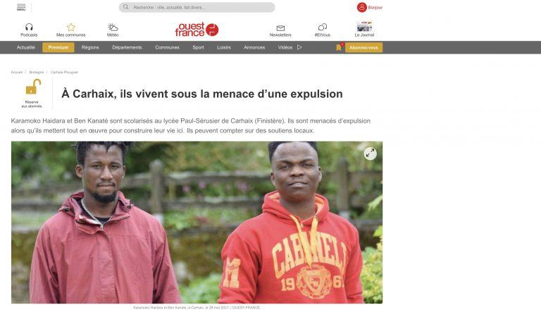 Carhaix. Propagande : Ouest-France évoque le cas de deux migrants « de 19 ans »
