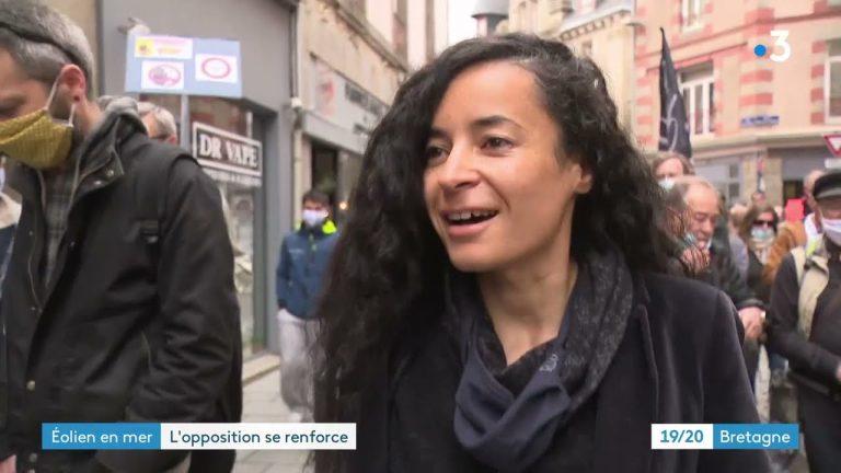 Saint-Brieuc : une marche contre l'éolien en mer tandis que des associations des Hauts de France demande un moratoire
