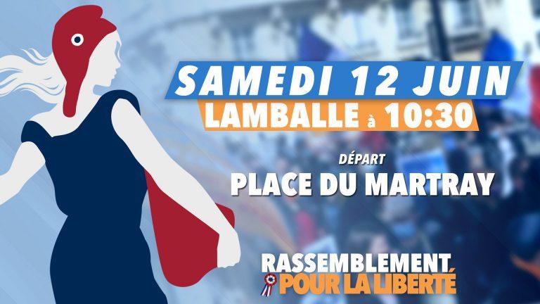 Une manifestation à Lamballe samedi 12 Juin contre le Pass Sanitaire