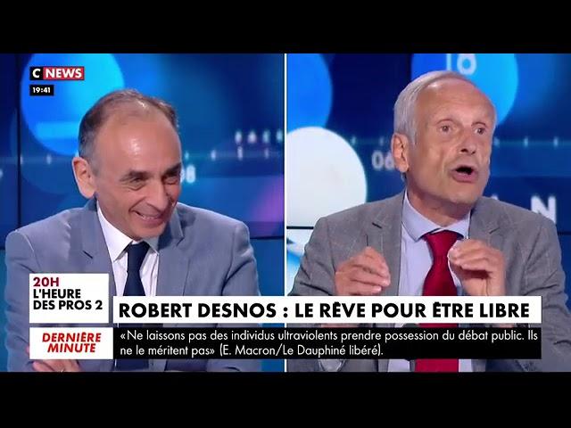 Eric Zemmour : « Je condamne la gifle, mais il a lui-même désacralisé sa fonction. Macron et son ministre de la Justice ne cessent de relativiser les violences dans la société »
