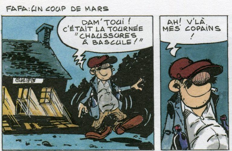 Bande dessinée. Les 4 dernières planches des aventures de Torr'Pen, signé Le Honzec