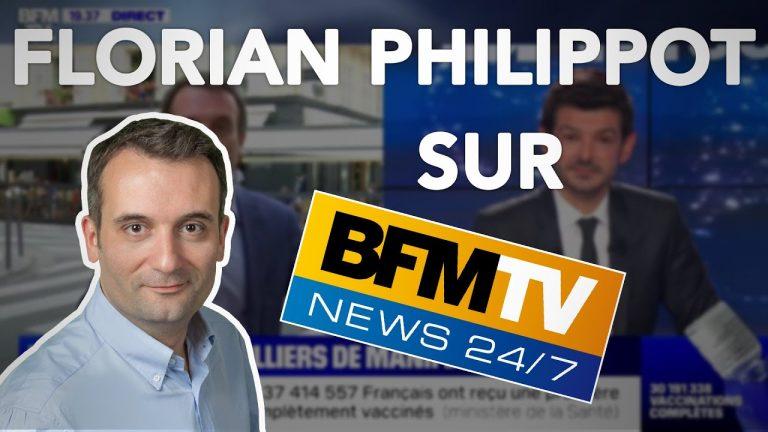Tyrannie sanitaire. Florian Philippot sur BFM TV après la manifestation historique du 17 juillet !