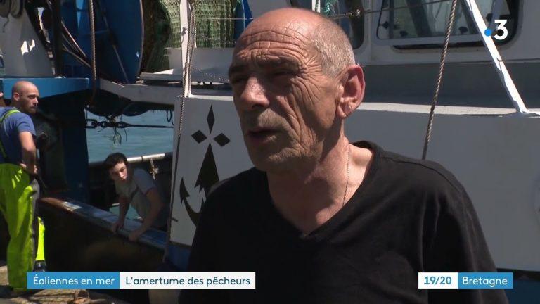 Baie de Saint-Brieuc : les pêcheurs contre le retour de l'Aeolus sur le chantier du parc éolien
