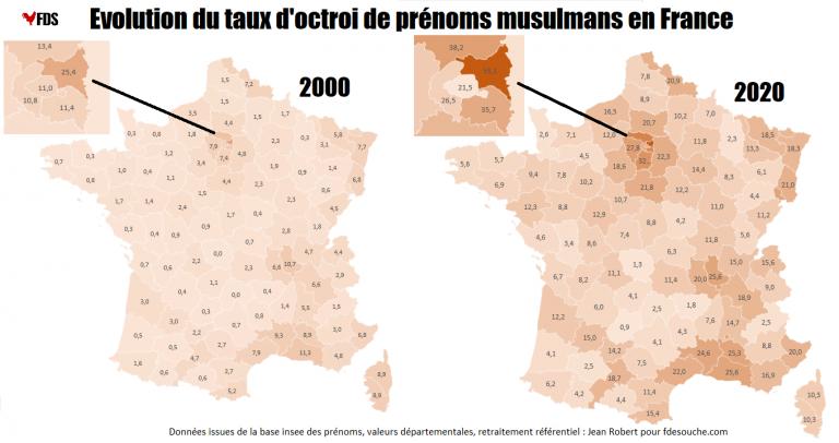 Baromètre 2020 du prénom musulman : 21,7% des naissances en France, entre 5 et 12% en Bretagne