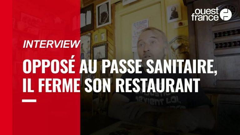 Opposé au passe sanitaire, il ferme son restaurant dans les Côtes-d'Armor