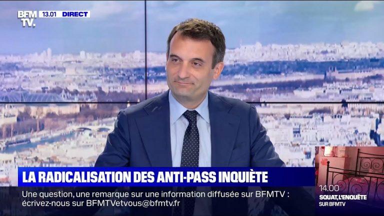 Florian Philippot réagit à la manif anti-Pass Sanitaire sur BFMTV