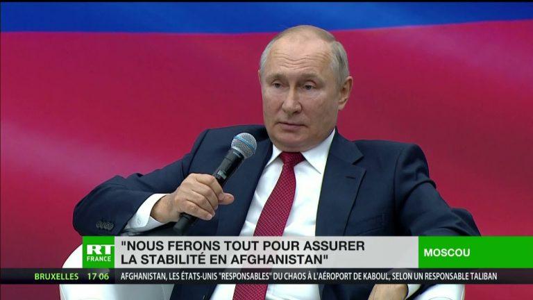 Afghanistan. Vladimir Poutine ne souhaite pas que des «terroristes déguisés en réfugiés» viennent en Russie