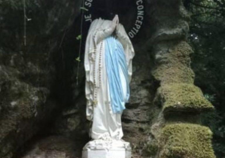 Christianophobie. La statue de la Vierge Marie décapitée à Plouay
