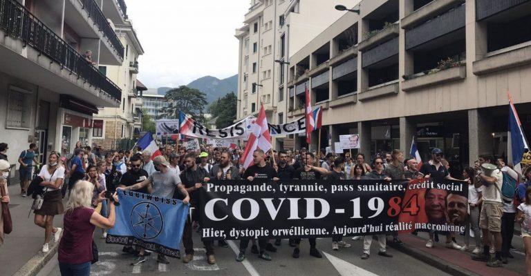 Tyrannie sanitaire. Pour la 8ème semaine consécutive, une mobilisation dans toute la France contre le pass sanitaire