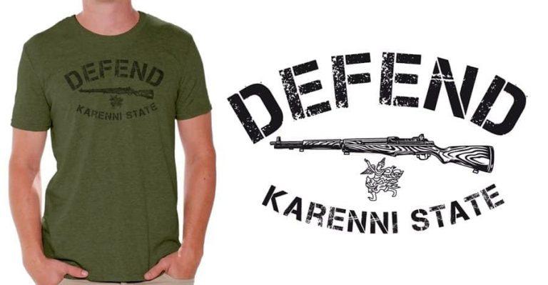 Defend Karenni State. Un t-shirt de soutien au peuple karenni