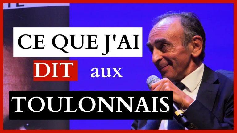 Vidéo. Éric Zemmour en conférence à Toulon