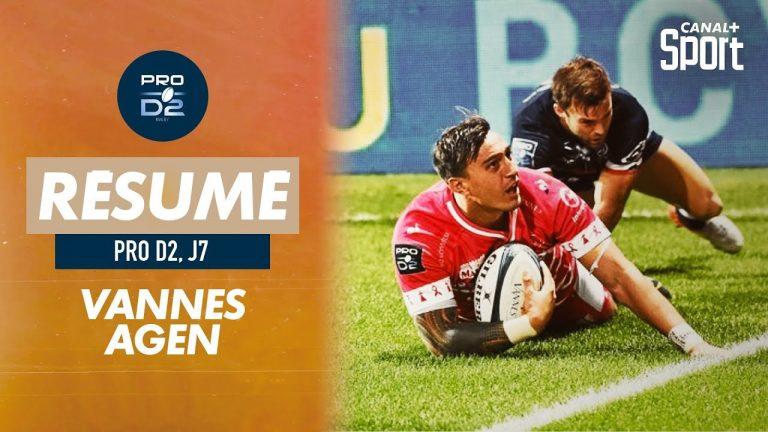 Rugby. Le RC Vannes atomise Agen et sonne le réveil à La Rabine (46-3)